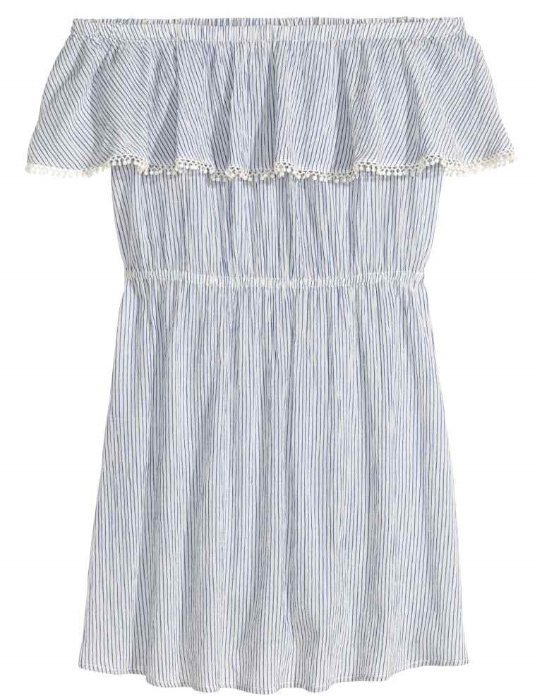 H&M Cotton off-shoulder Dress, £14.99